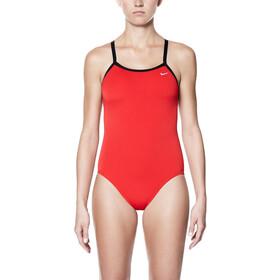 Nike Swim Poly Core Solid Racerback costume intero Donna, rosso